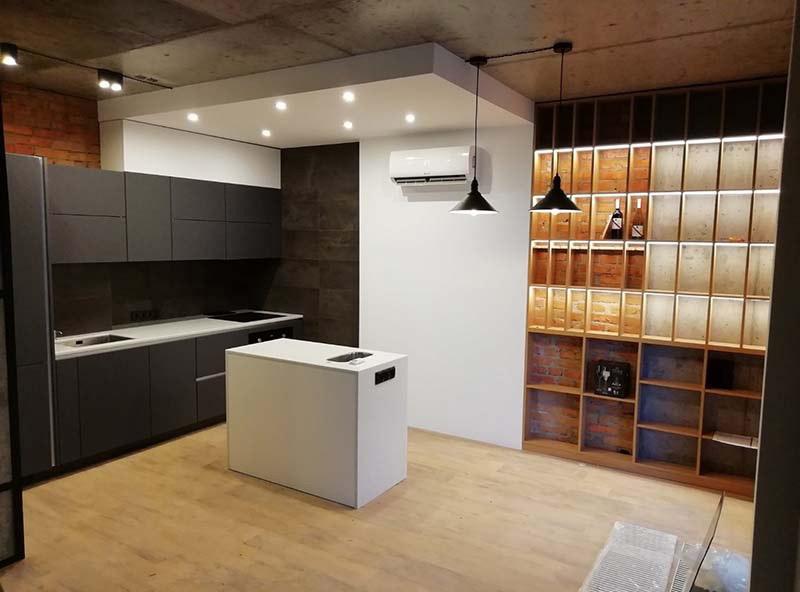 кухня лофт купить киев фото в интерьере