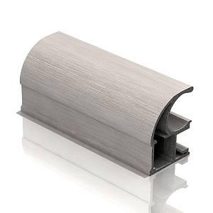 юкс, открытый анодир. браш никель ( 129 грн. за пог.м.)